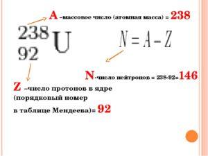 Какое массовое число изотопа
