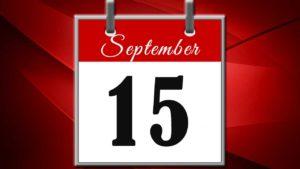 15 september